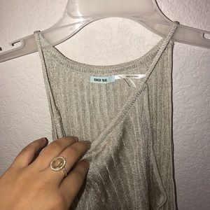 Kimchi Blue Tops - Gold/silver urban outfitters halter top
